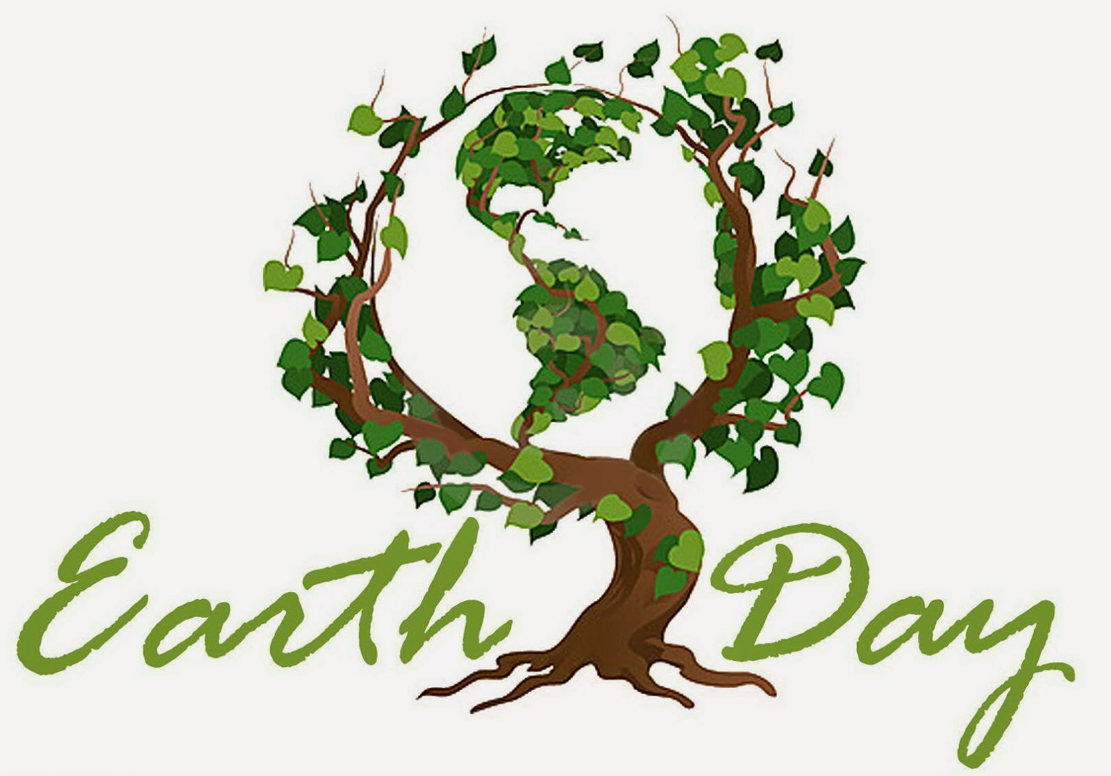 Simple And Meaning Earth Day 2015 Clip Art  Earth And Green Tree