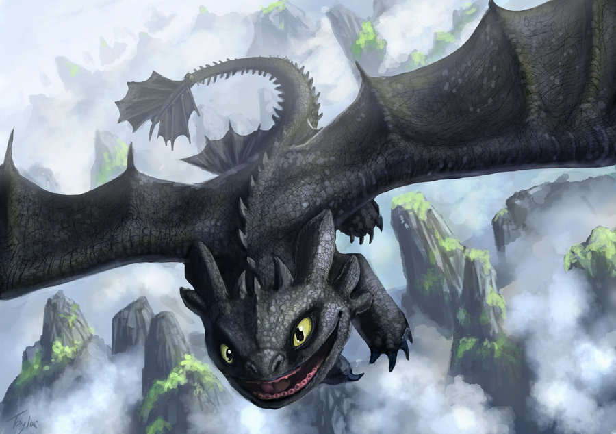how to draw toothless smiling
