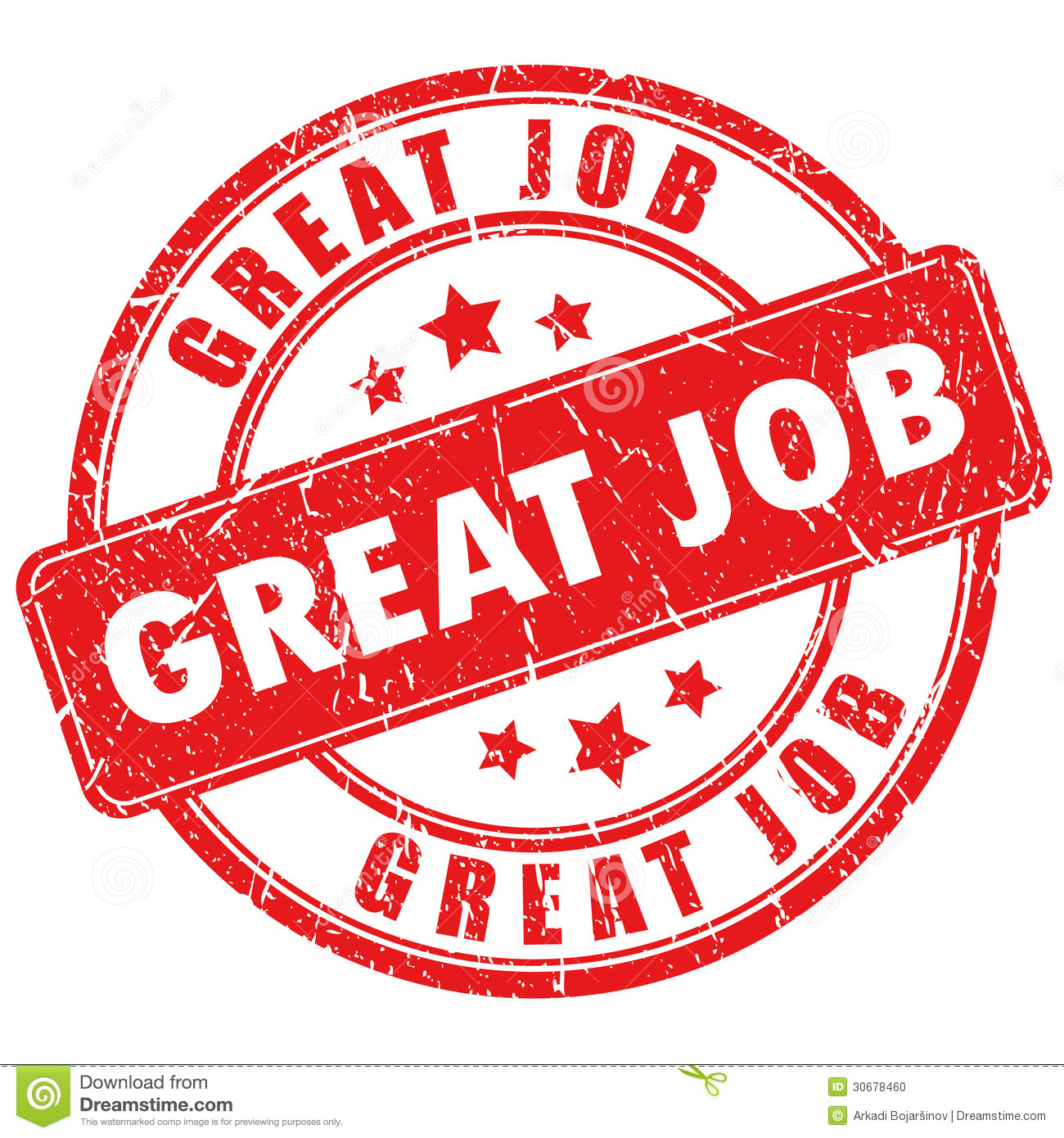 Vector Great Job Stamp Stock Photo   Image  30678460