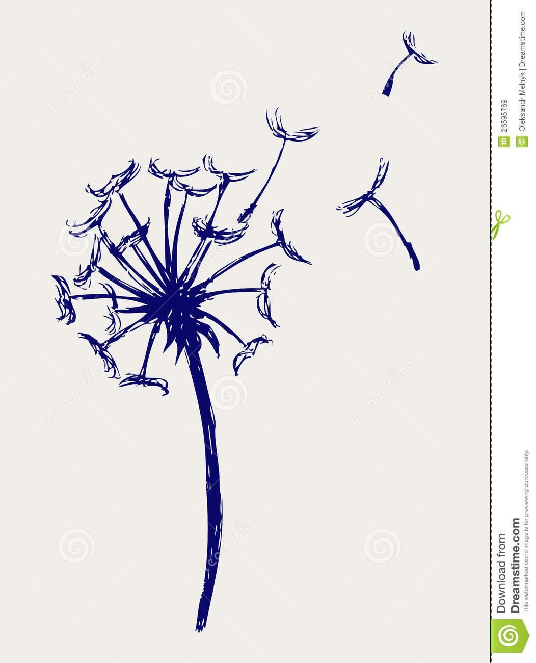 Blowing dandelion clip art - photo#10