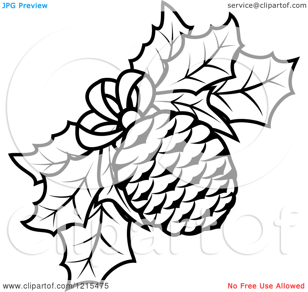 pine cone outline clipart clipart suggest