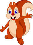 Cute Cartoon Squirrel Cartoon Squirrel Vector Clip Art Illustration