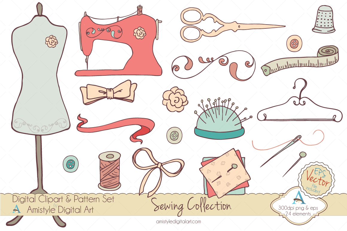 Embroidery Tools Clipart Clipart Suggest