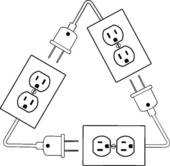 Electrical Outlets Plug Recycle Renewable Electric Energy   Clipart