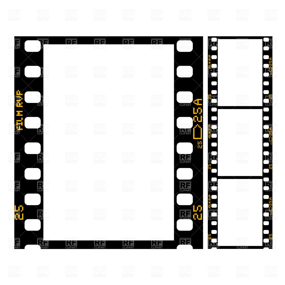 Film Strip 1469 Objects Download Royalty Free Vector Clip Art  Eps