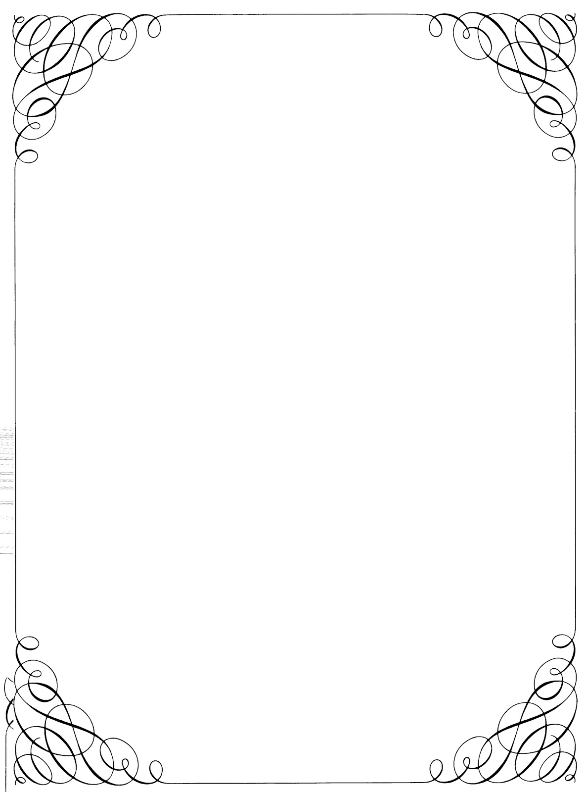 Black and white calligraphy borders clipart suggest