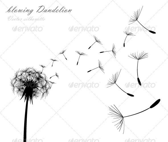 Blowing dandelion clip art - photo#23