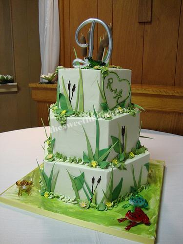 Lily Pad And Cattail Wedding Cake   Flickr   Photo Sharing