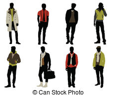 Male Fashion Model Illustrations And Clipart