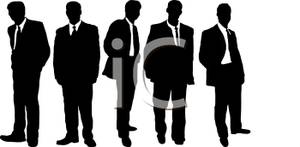 Male Models Modeling Business Suits   Royalty Free Clipart Picture