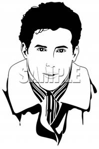 Portrait Of A Male Model   Royalty Free Clipart Picture
