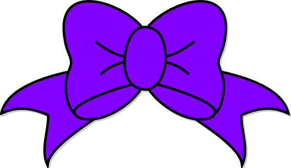 Purple Bow Clip Art At Clker Com   Vector Clip Art Online Royalty
