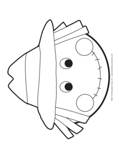 Scarecrow Mask Colouring Pages