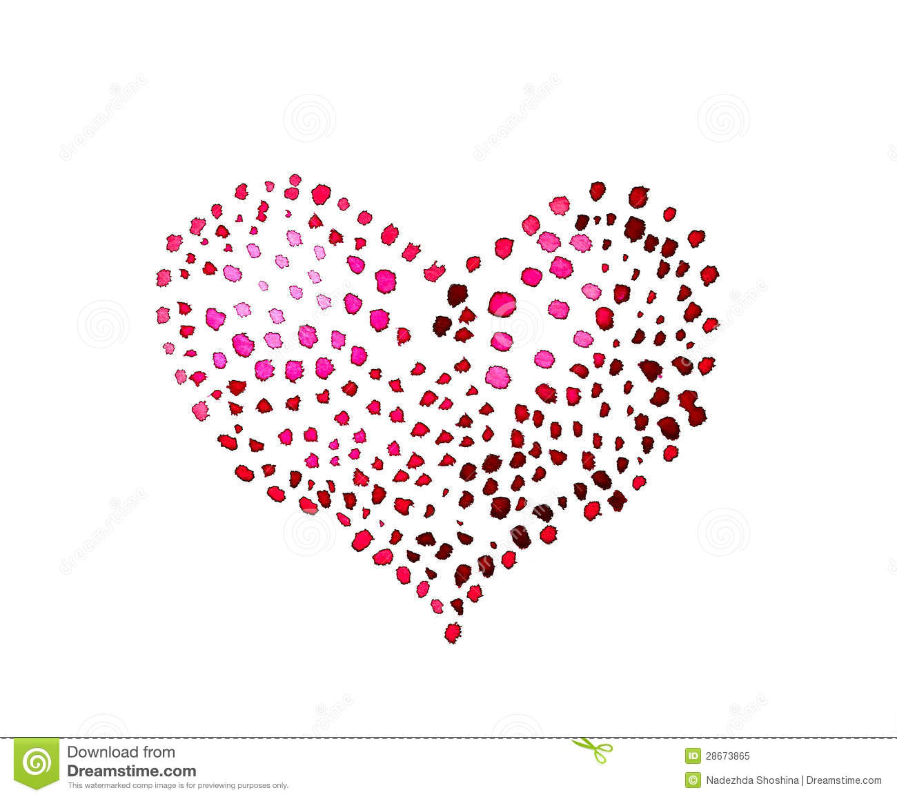Spotted Heart Royalty Free Stock Photo   Image  28673865