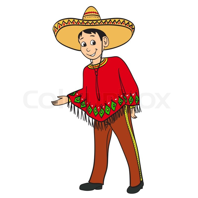 Stock Vector Of  Mexican Cartoon Boy Dressed In A Traditional Suit