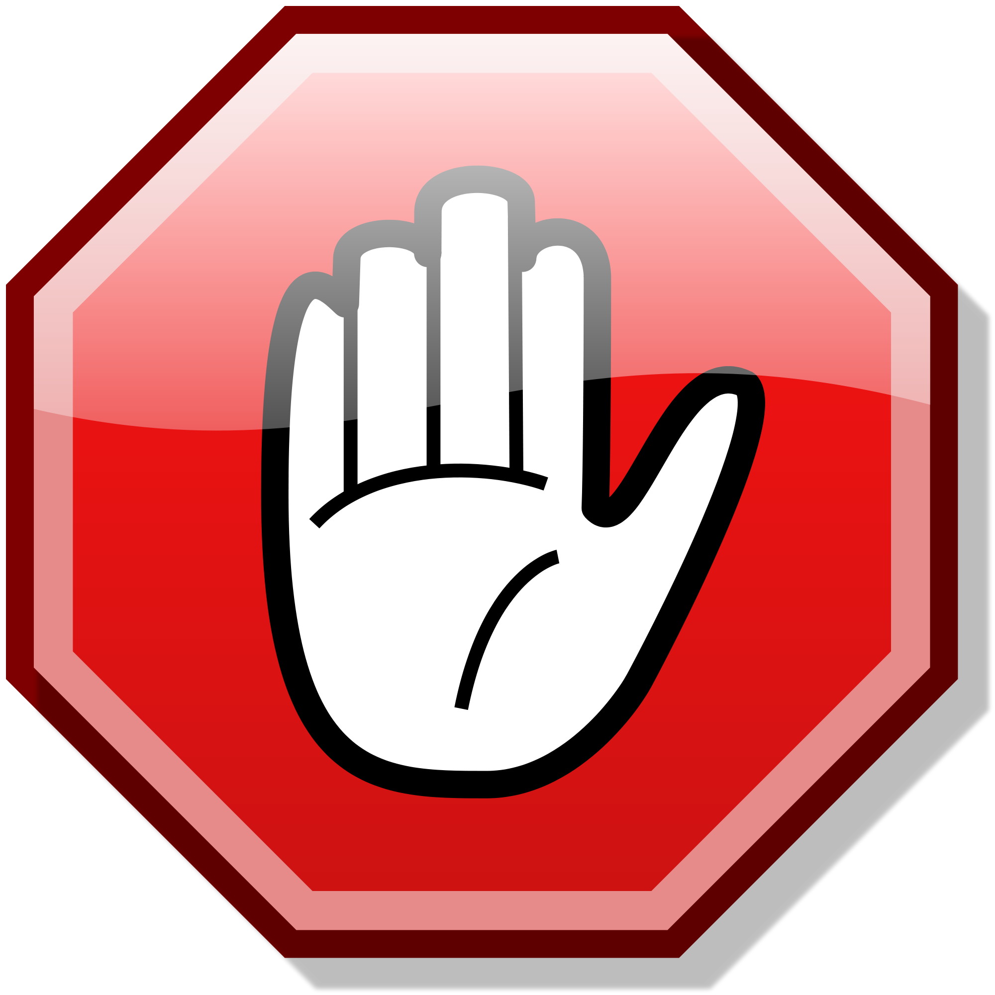 Hand Stop Sign Clipart - Clipart Suggest