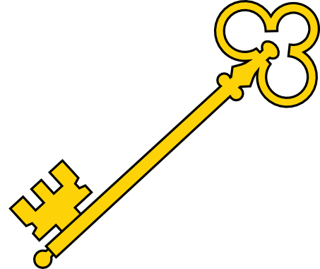 This Nice Golden Key Clip Art