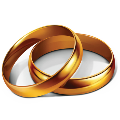 Wallpapers Golden Wedding Bells Png