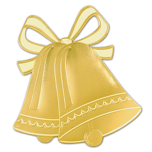 Wholesale   Bulk Dropshipper Foil Wedding Bell Silhouette Case Pack