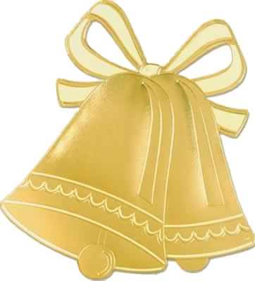 Golden Wedding Bells Clipart