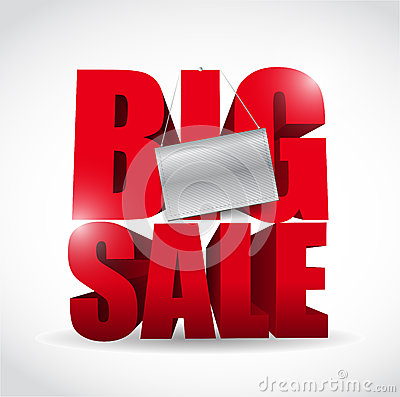 Big Sale Sign And Banner Illustration Design Royalty Free Stock Photos