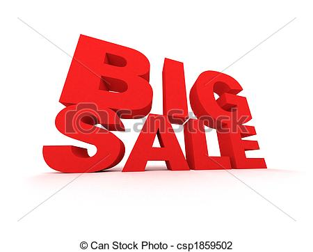 Big Sale Sign In Red Over White Background Csp1859502   Search Clipart