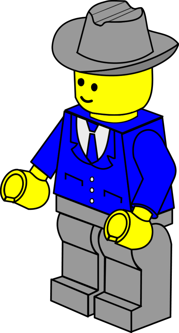 Business Man Lego   Vector Clip Art