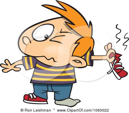 Cartoon Smelly Person
