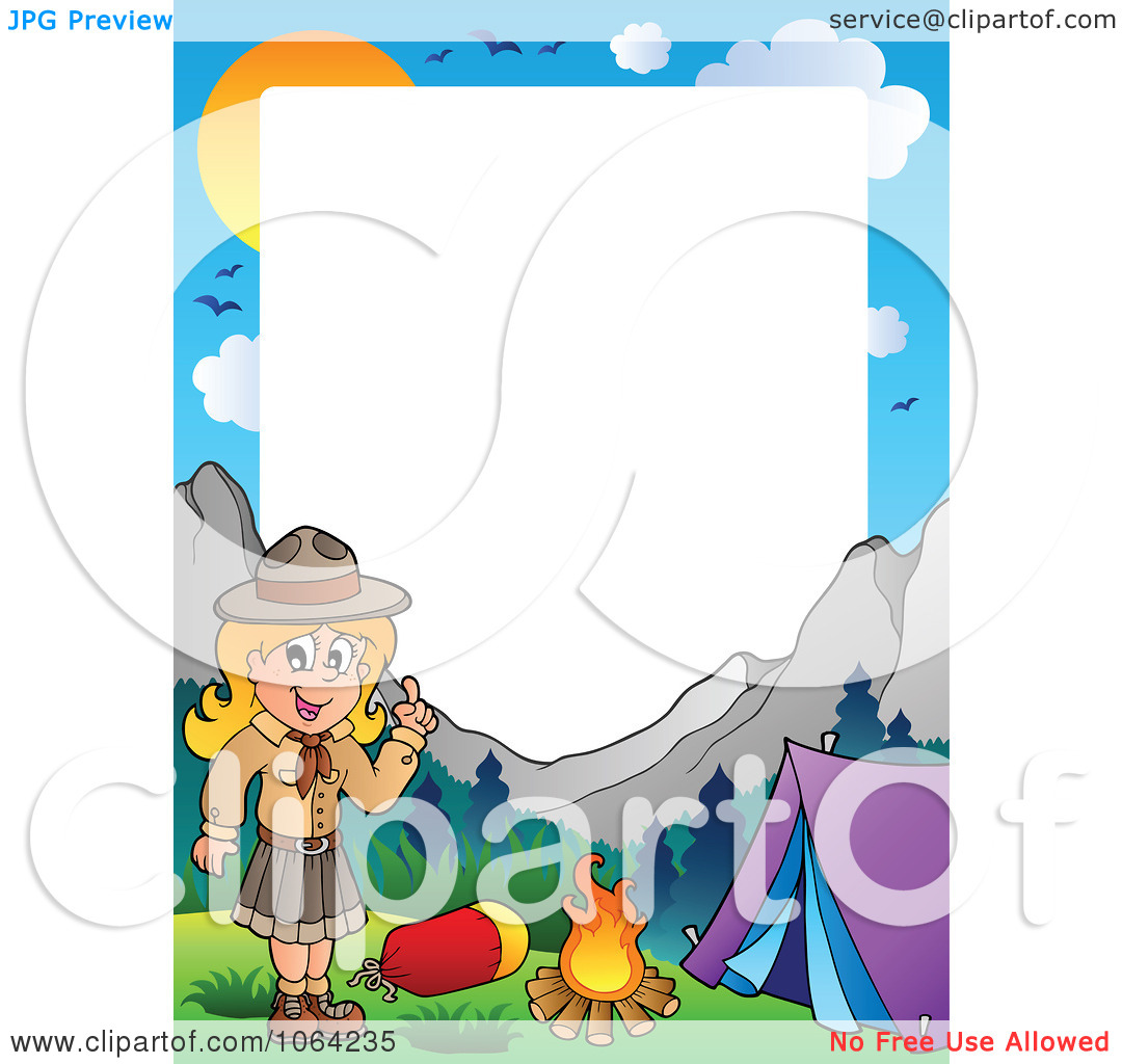Girl scout camping clip art