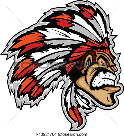Clipart   Indian Chief Mascot Head Vector Cartoon  Fotosearch   Search
