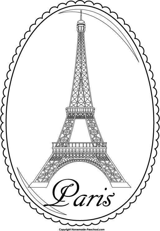 Eiffel Tower Cartoon Clipart Suggest