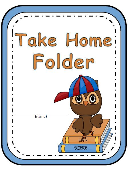 Elementary Work Folders   Daily Folders Covers   Owl Theme   180 Pages