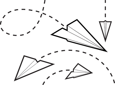 Flying Paper Airplane Clip Art