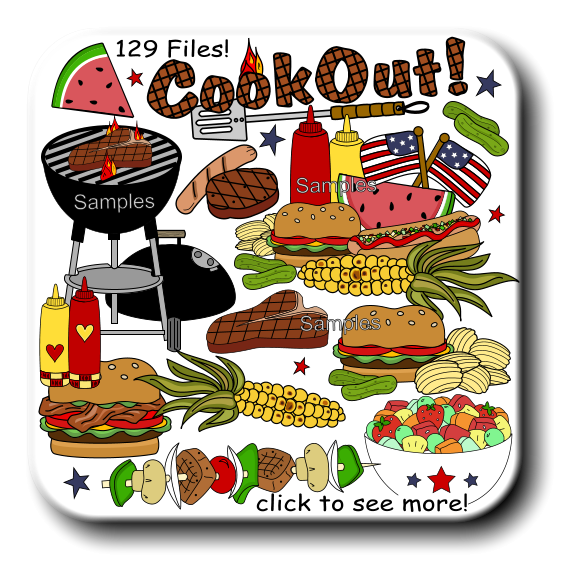 Gallery For   Cookout Clip Art Borders