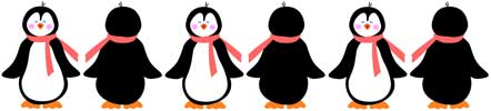 Home   Clip Art   Borders   Frames   Rule Borders   Penguins Border