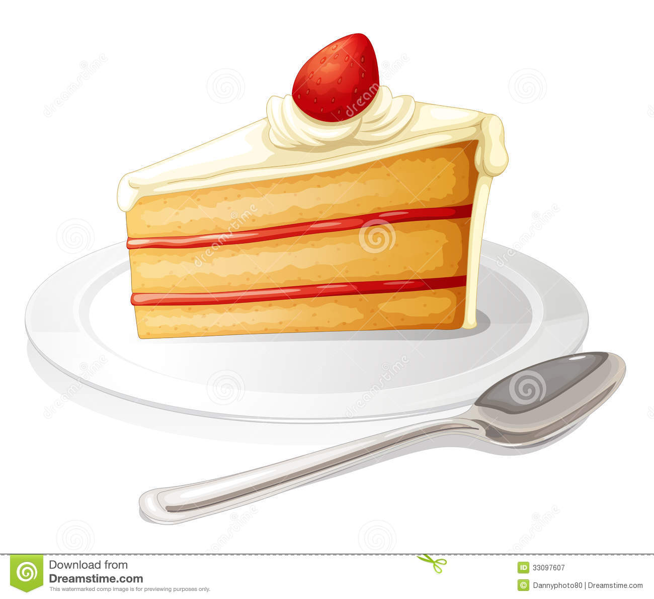 Clipart Slice Of Cake On A Plate : Rainbow Cake Clipart - Clipart Suggest