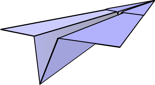 Paper Airplane Clipart - Clipart Kid