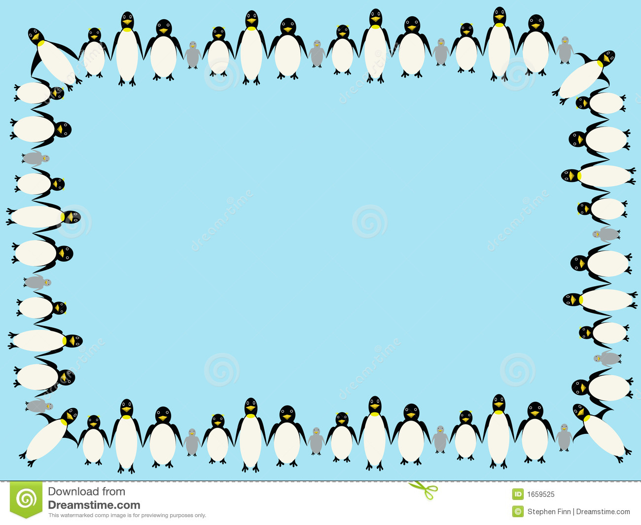 Penguin Border Clipart - Clipart Kid