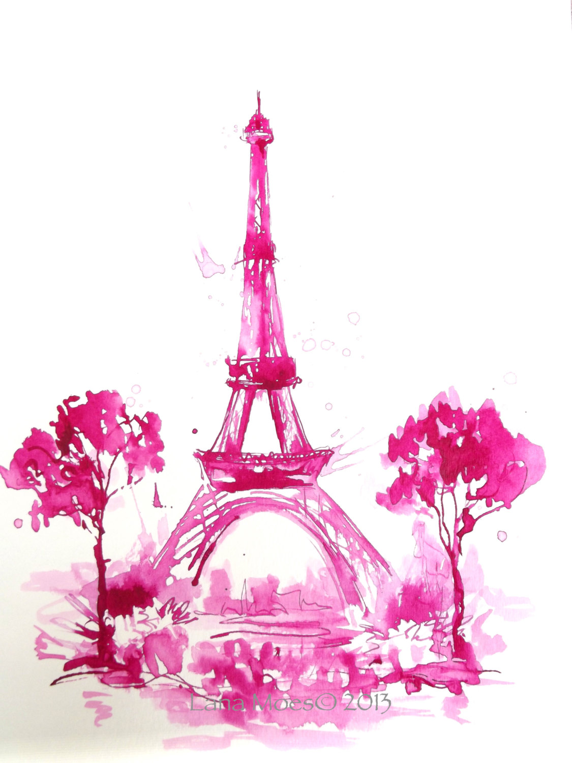 pink eiffel tower clipart clipart suggest