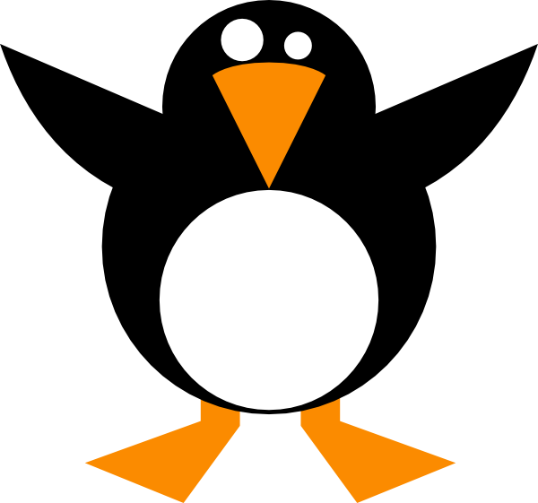 Simple Penguin Clip Art At Clker Com   Vector Clip Art Online Royalty