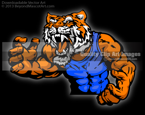 Tiger Wrestling Art Tiger Mascot Clip Art 0929 Wrestling Tiger