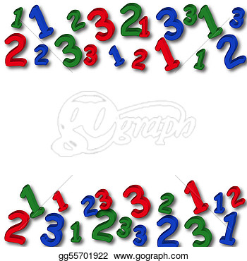 Border On A White Background Number Border  Clipart Drawing