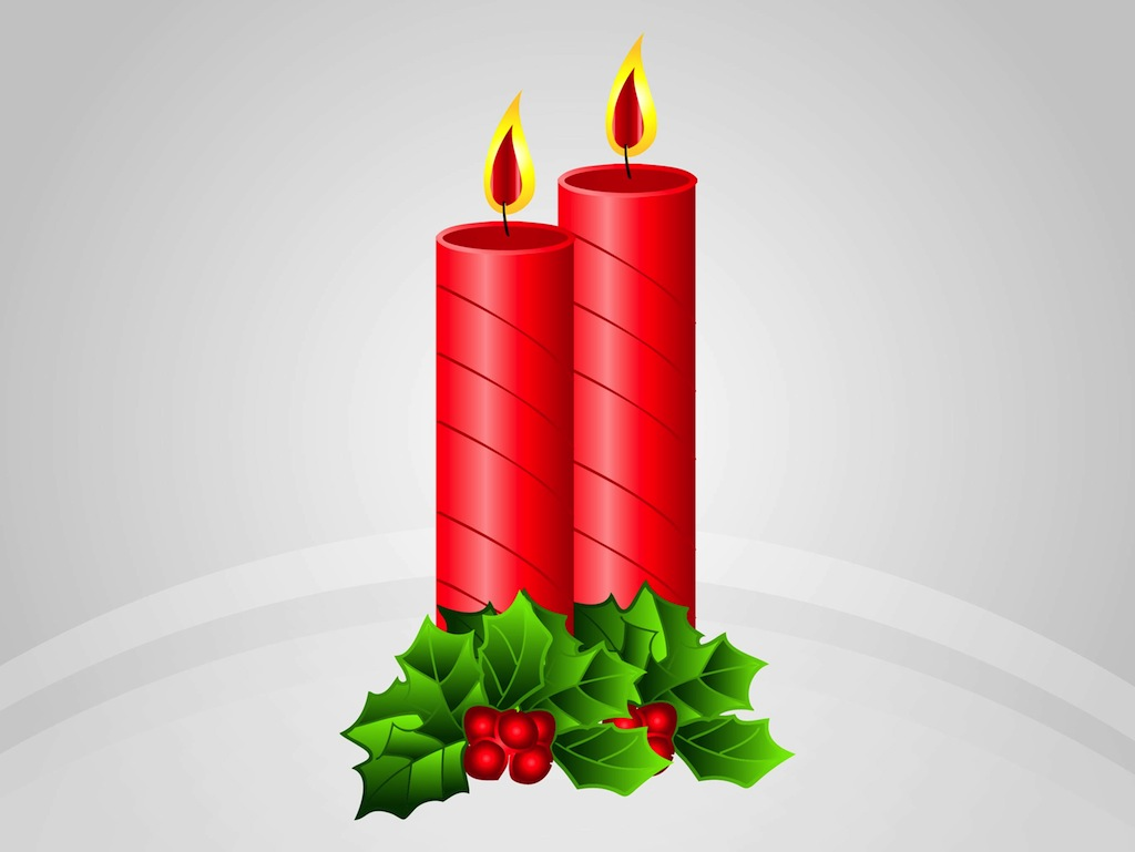 Christmas Candle With Banner Clipart - Clipart Kid