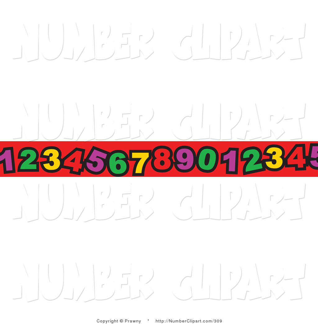Clip Art Of A Border Of Numerals On Red By Prawny    309