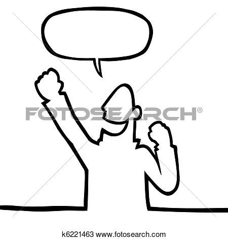 Clip Art Person Cheering Clipart - Clipart Kid