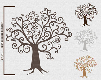 Family Tree With Birds 3 Clipart - Clipart Kid