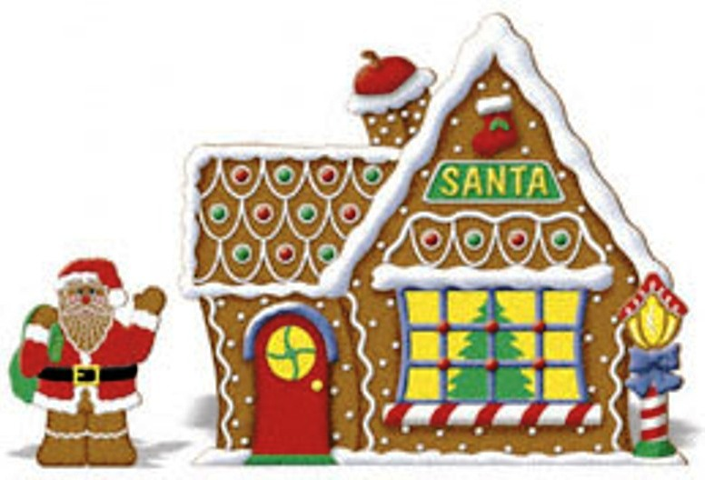 Free Download Christmas Gingerbread House Bells Candles Candycanes Car