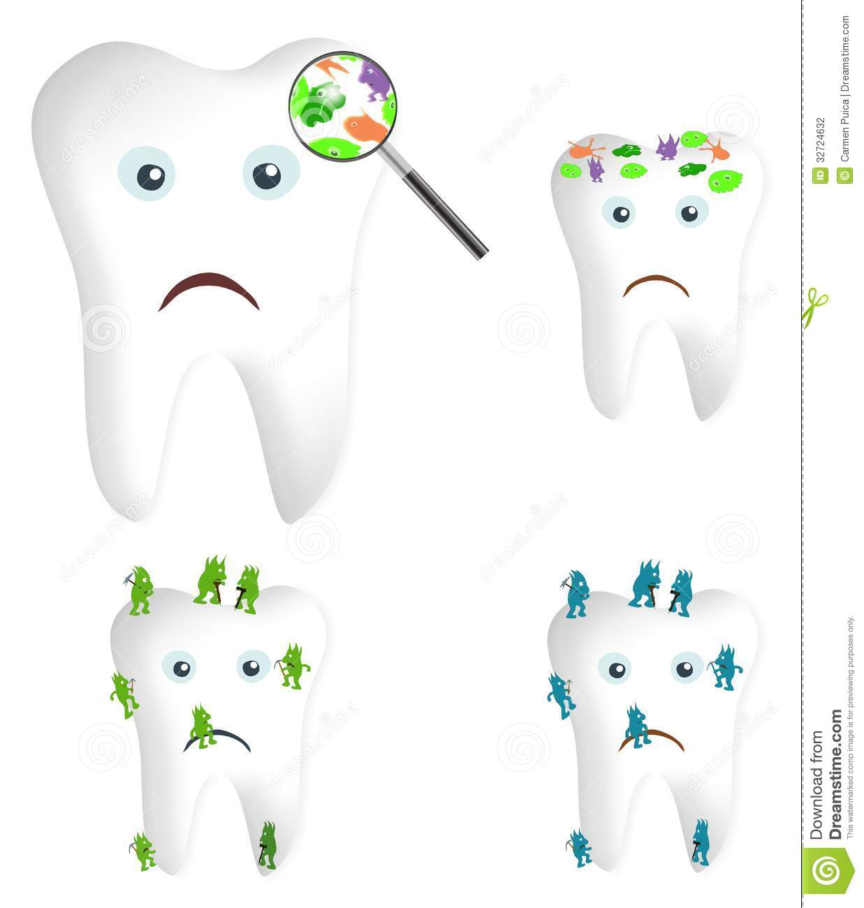 Germs And Bacteria Clipart Tooth Germs And Bacteria