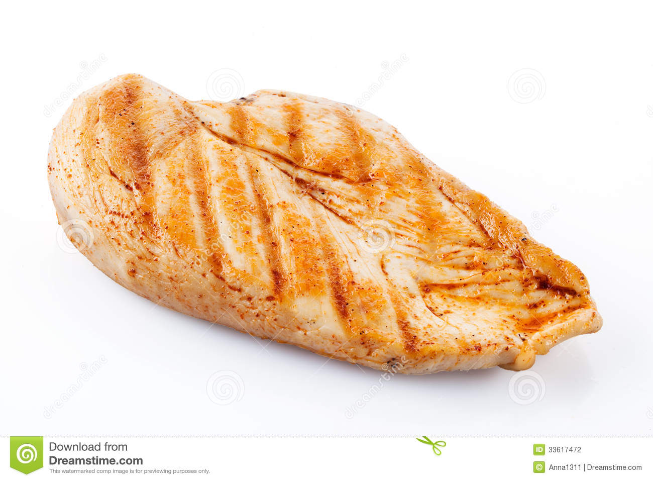 Grilled Chicken Breast With Clipping Path Stock Photography   Image