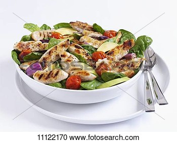 Grilled Chicken Salad With Spinach And Tomatoes View Large Photo Image